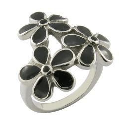 Stahldecklack-Blumen-Ring-Frauen-Ring