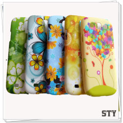voor Samsung Cute Flower Design Soft TPU Skin Matt Schilderen Case, Cover, Phone Case (STY0021)
