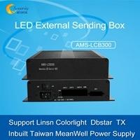 Controlador de pantalla Linsn LED Tarjeta Envío Linsn LED TS802D Soporte de la caja de envío externo IT7 T7-DBS Hvt11en Tx13 Tarjeta Envío LED