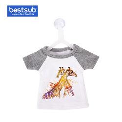 装飾のギフトのためのハンガーが付いている小型かわいいTシャツ(灰色) (MTC-GR)のカラーか袖