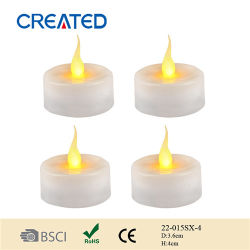 Houses Decoration 또는 건전지 Powered Flameless LED Tealight Candles (22-015SX-4)를 위한 백색 Tea Light Candle