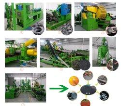 Residuos totalmente automática máquina de reciclaje de neumáticos/máquina de reciclaje de neumáticos con Ce & ISO&300~1000SGS (kg/h)