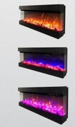 3 Seiten Morden Indoor Elektro-Heizung Kamin mit verschiedenen Flammen