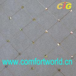 La broderie imitation cuir velours avec T/C Tissu (SHSF04355)