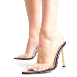 L'estate del partito dei sandali di altezza dell'alto tallone della signora Sexy Transparent pompa i pattini delle signore