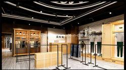 Custom Mdf Wood Metal Aantrekkelijk Young Lady Garment Shop Design