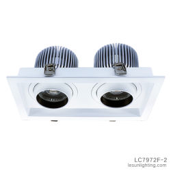 두 배는 2*20W 옥수수 속 LED 합작 Ceilign Downlight LC7972f-2를 이끈다