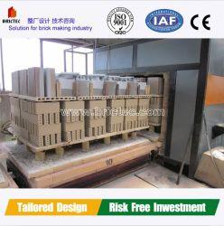 Forno de túnel de tijolos de barro avançada com carvão ou gás