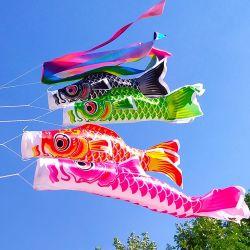 De Japanse Karper Windsocks van Koi Nobori van het Festival van de Jongen van de Vlag van de Wind