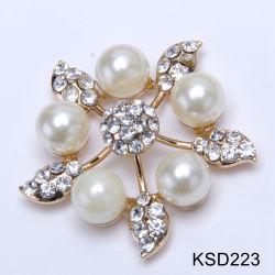 2019 Nouveau Rhinestone Clips du caisson de fleur de perles en Cristal ovale classique sandale Ornements Boucles