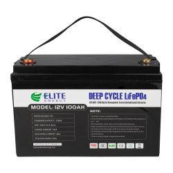 Elite oplaadbare lithium-ionbatterij LiFePO4 12,8 V 100 ah Li-ion Met lange cyclusduur