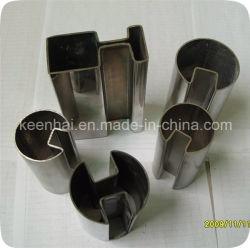 Decorative fendu de tuyau rondes en acier inoxydable pour la main courante