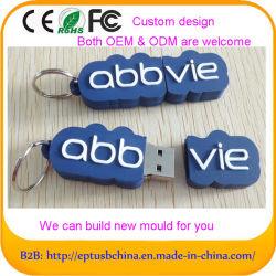 Mini 2GB de disco portátil USB Flash, Memory Stick Pen Drive de disco de 3D Diseño personalizado de molde (POR EJ066)