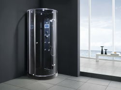 Black One Person Computer Steam Room