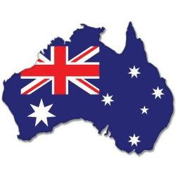 """5つの"""" X 4 """"のカスタムロゴ車のステッカーのオーストラリアのマップのフラグのバンパーステッカーのステッカー"""