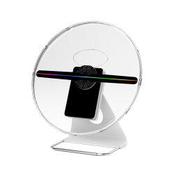 홀로그래픽 충전식 데스크탑 홀로그램 30cm 3D 광고 홀로그램 팬 프로젝터 디스플레이 With16GB 256 LED 램프 Bead