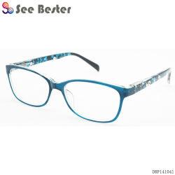 1.00 à 4.00D lunettes de lecture avec pochettes, faite de plastique, disponible en différentes couleurs