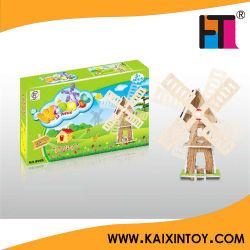 As crianças brincar bricolage papel da energia solar Moinho De Vento Solar Power Toy