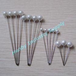 Perni rotondi bianchi decorativi Wedding della testa della perla dei rifornimenti