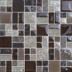 Brillante y mate la grieta de hielo de la pared de baño mosaicos de vidrio (G855004)