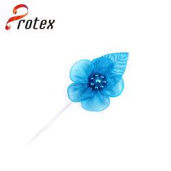 Cor de turquesa tecido organza fita organza por grosso de flores artesanais