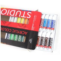 24 colori di Set di vernici acriliche da 12 ml a buon prezzo Set di vernici acriliche