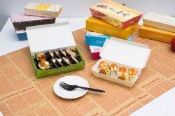 종이 음식 상자 스시 박스 생분해성 생분해성 생태 일회용 테이그 자리를 빼앗습니다 상자
