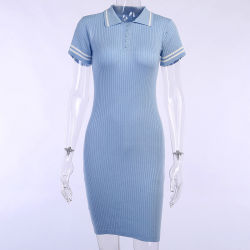 熱い販売の無地は情報通のスカートのSingle-Breasted Bodyconの服を編んだ
