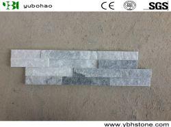 Natürliches Graues/weiß/rostig/Rosa/grüner Quarzit-Natur-Kultur-Stein gestapelter Schiefer für Wände