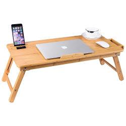 Регулируемый 100% бамбук ноутбук в таблице для кровати