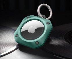 Compatible avec la housse Apple Airtags Keychain TPU + PC Skin Couvercle de protection pour accessoires porte-clés pour chien ou outil de recherche de collier pour chat GPS