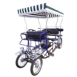 Recorriendo la recreación de cuatro personas de alquiler o 6 personas en bicicleta de Surrey Turismo pedal eléctrico las cuatro ruedas bicicleta