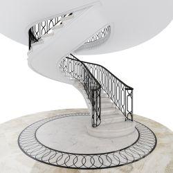 Moradia de luxo Design Interior duplo personalizado escadaria curvos