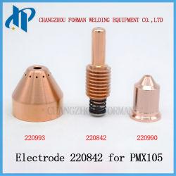 Электрод Ref. 220842 плазменного резака материалы 45-105A