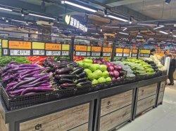 Produttori che vendono frutta e verdura Mostra scaffale negozio Supermarket Ripiani