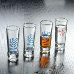 طباعة مقنطرة مخصصة للشرب تعيين سعر جيد أكواب اقتصادية صغيرة ليكوور فودكا مختلفة الحجم تطلق الزجاج
