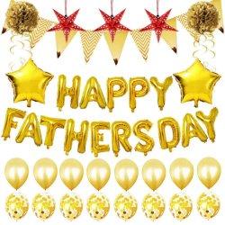 아버지 S Day 파티는 파파 생일 파티 슈퍼 장식했습니다 Confetti Latex 18인치 스페인 글로보를 갖춘 파파 파티 장식 키트 포일 부품 번호 별