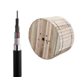 지하 덕트 알루미늄 테이프 기갑 케이블 UV 저항 HDPE 케이블 섬유 광학적인 옥외 케이블