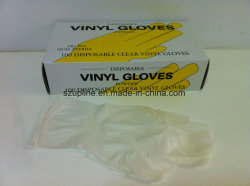 Claro Transparente desechable guantes de vinilo Examen Médico