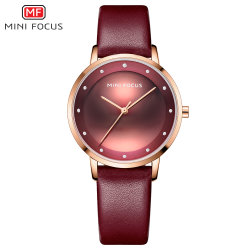 Мини-фокус современной моды водонепроницаемый горячая продажа новейших дешевые цены Леди Кварцевые часы с запястья группа кожи