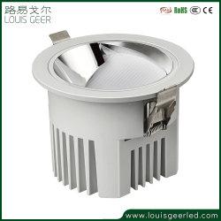 Racionalización de la estructura de aluminio de diseño profesional de puntero láser 10W 18W 30W blanco y negro cuadrado pequeño empotrado Foco LED