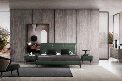 Arredamento moderno Camera da Letto doppio in pelle Deposito letto tavolo da letto Mobili per la casa King Queen Size struttura letto morbido