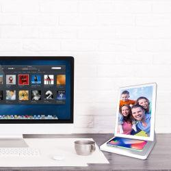 تلفزيون بشاشة LCD بنظام Android WiFi مقاس 9.7 بوصة بشاشة CMS وشاشة عرض رقمية شاشة العرض مطعم الجدول 15 واط لاسلكي شاحن سريع الإعلان اللاعب