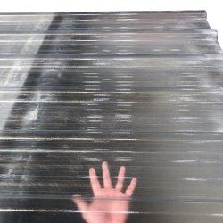 Toit en fibre de verre ondulé en PRF Feuille de plastique transparent pour le Balcon de la bobine de toiture