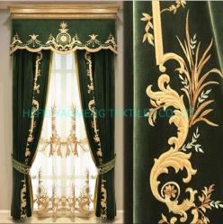 Hôtel Textile broderie fabricant chinois rideau brodé maille italienne Royal broderie rideaux rideaux de dentelle ombrage ignifuge