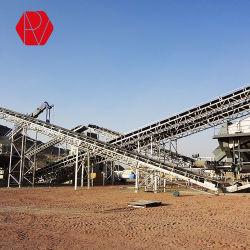 砂および石のために携帯用移動可能な移動式ベルト・コンベヤーを採鉱する移動は絶食する