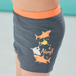Neu Custom Shark Printed Jungen Bademode Strandkleidung Kleine Kinder Shorts Badehose