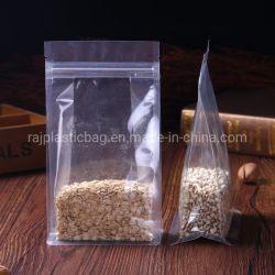Resealable Duidelijke Transparante Plastic Zak van de Ritssluiting van de Zak van de Doos van de Hoekplaat van de Bodem van het Blok van de Verbinding van Vierling omhoog 8 van de Tribune Doypack Zij