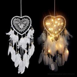 창조 장신구 꿈 캐처 크리스마스 거는 장신구를 거는 사랑 꿈 캐처 다채로운 빛을 밖으로 속을 비게 하십시오