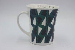 القهوة كوب هدية مجموعة خزفية خزفية فنجان قهوة شاي مع نمط الخطوط